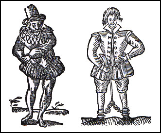 Thomas Nash ridiculed Gabriel Harvey (left) in 'Have with You Saffron Walden (1596)